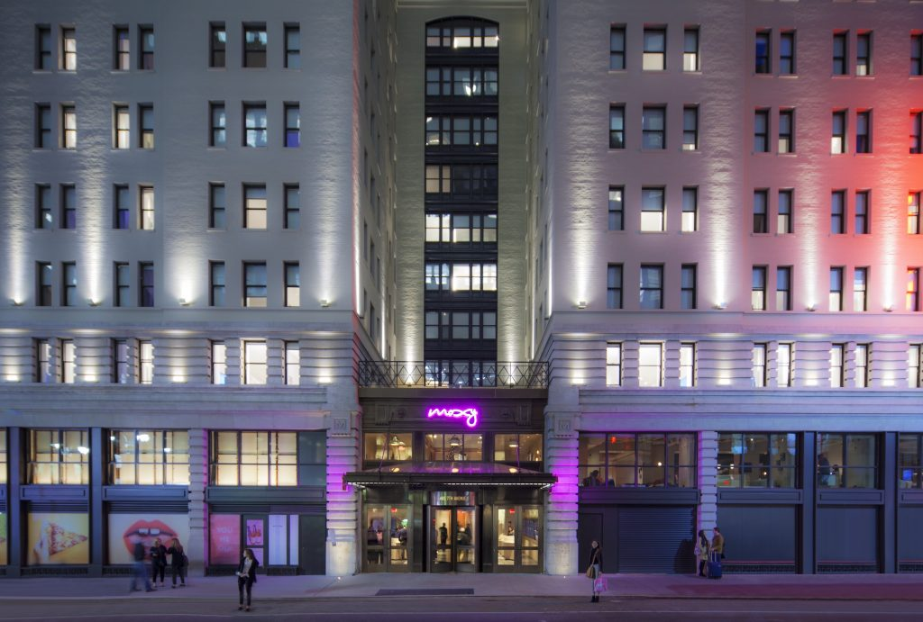 Moxy Times Square Hotel Exterior